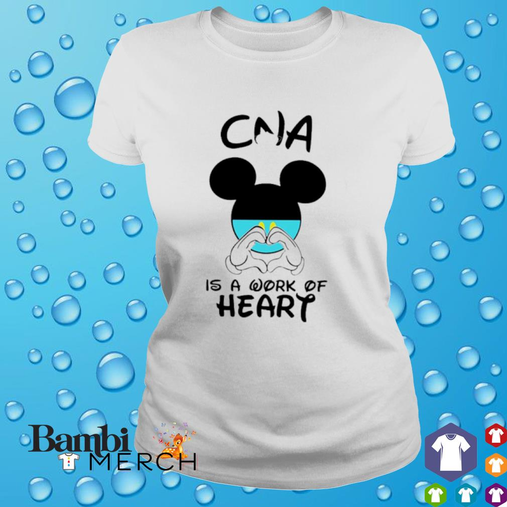 CNA is a work of heart Mickey Mouse shirt