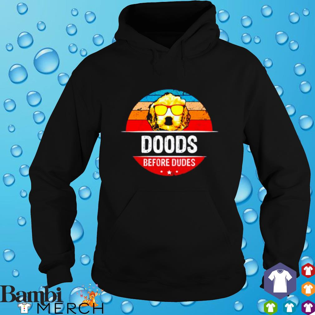 Doods before dudes Goldendoodle sunset hoodie