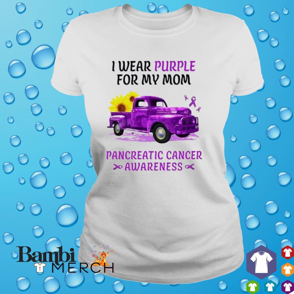 I wear purple for my mom pancreatic cancer awareness shirt