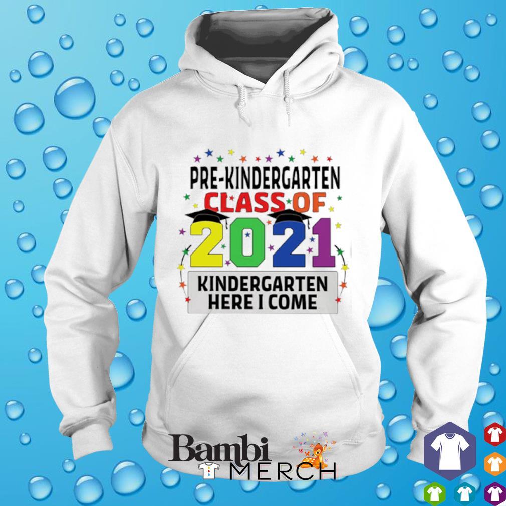 Pre-kindergarten class of 2021 kindergarten here I come hoodie