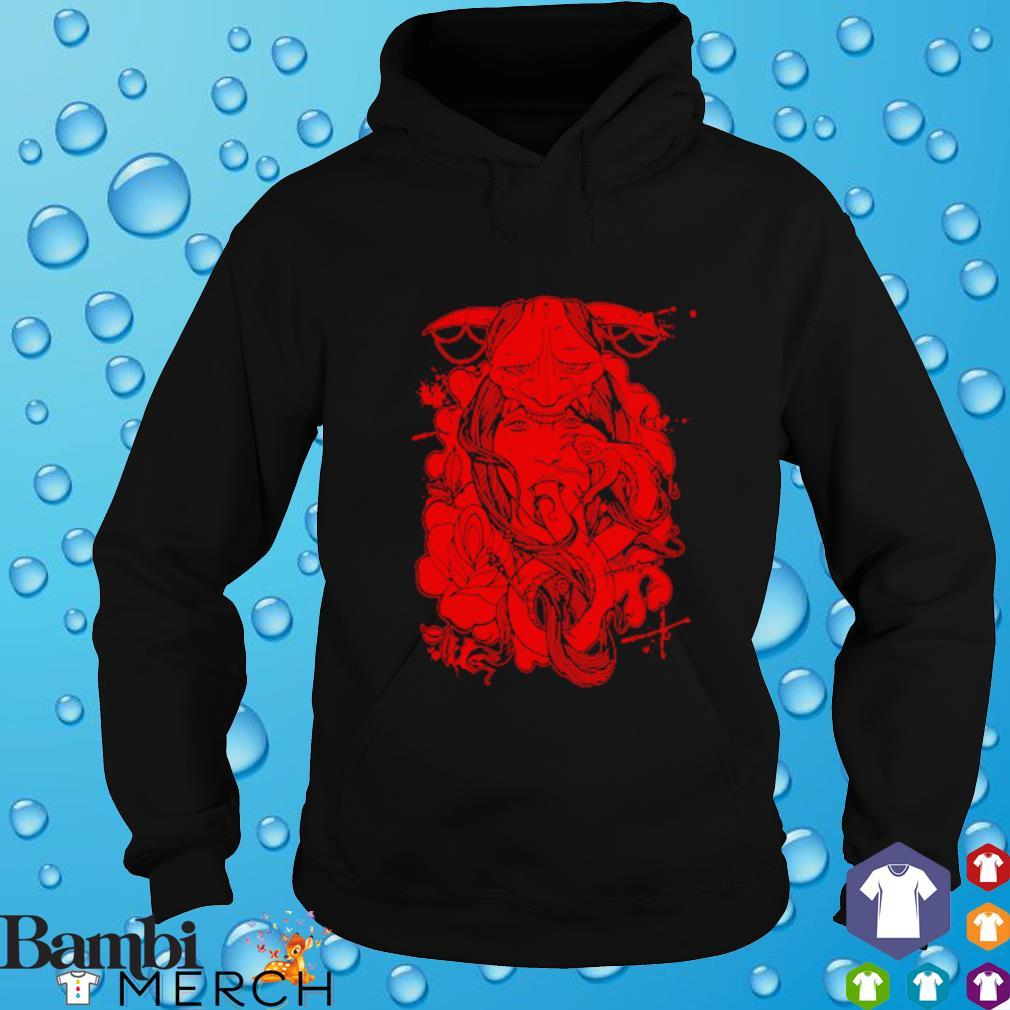 Red Geisha Mock hoodie