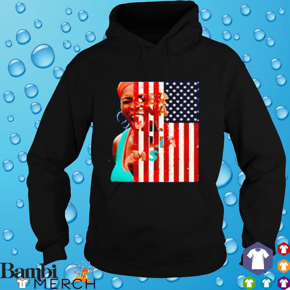 Serena Williams America Flag hoodie