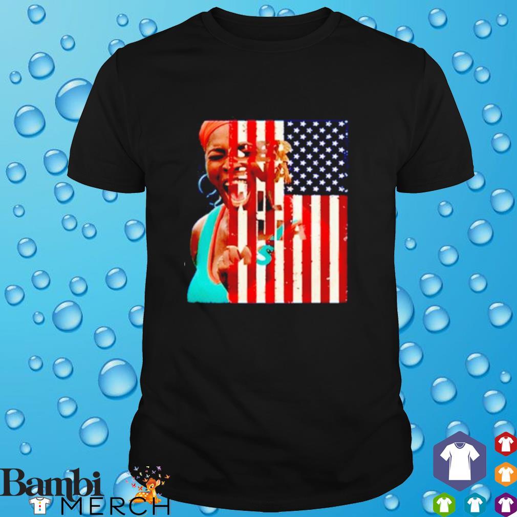 Serena Williams America Flag shirt
