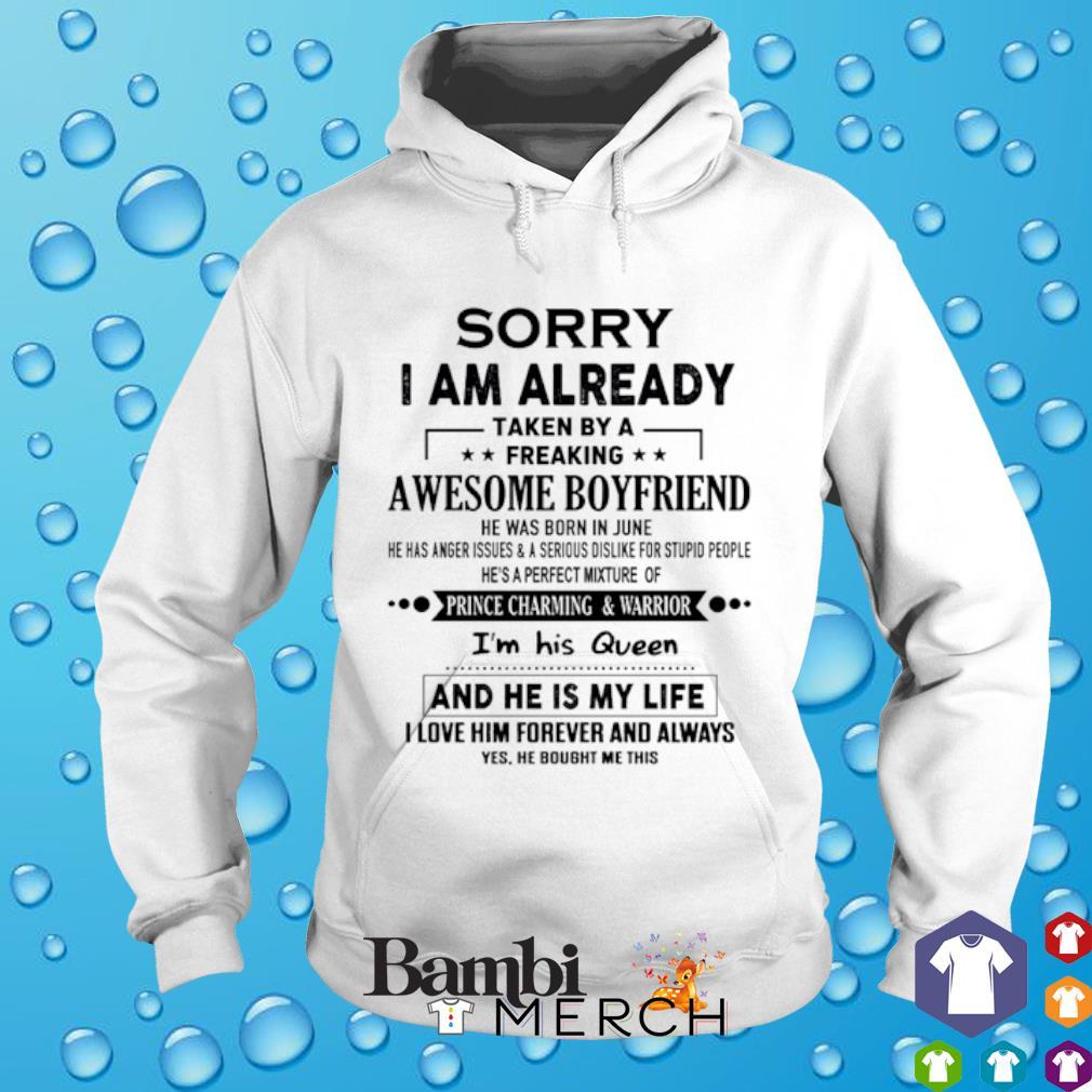 Sorry I am already taken by a freaking awesome boyfriend hoodie