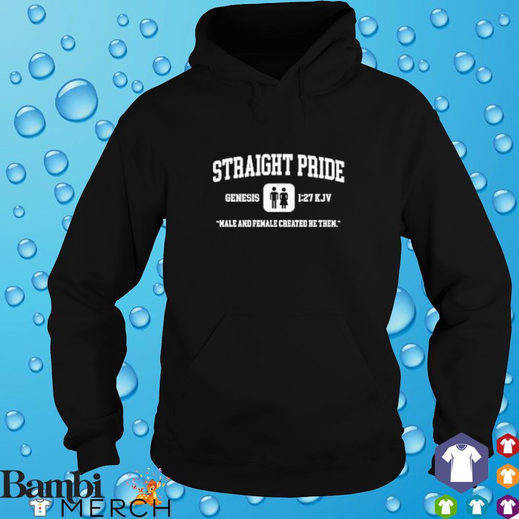 Straight Pride Genesis male and female created he them hoodie
