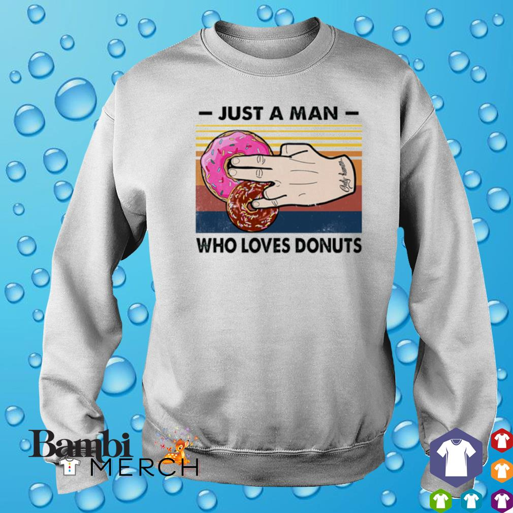Just a man who loves Donuts vintage s 3