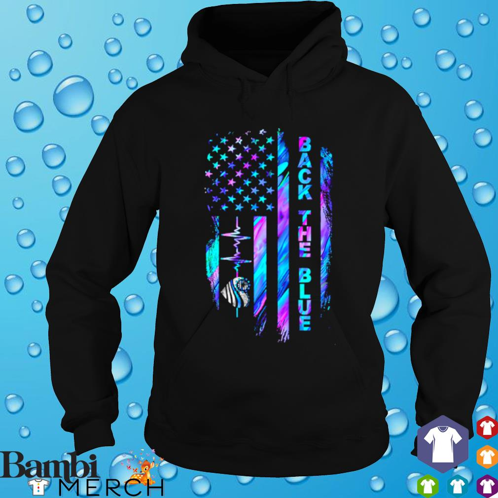 Heartbeat Thin Blue Line back the blue s hoodie