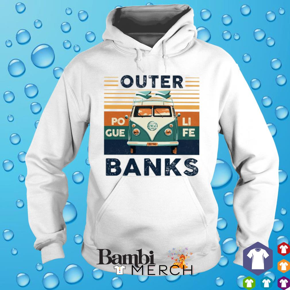 Hippie car outer banks vintage s hoodie