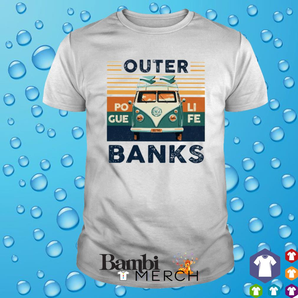 Hippie car outer banks vintage shirt