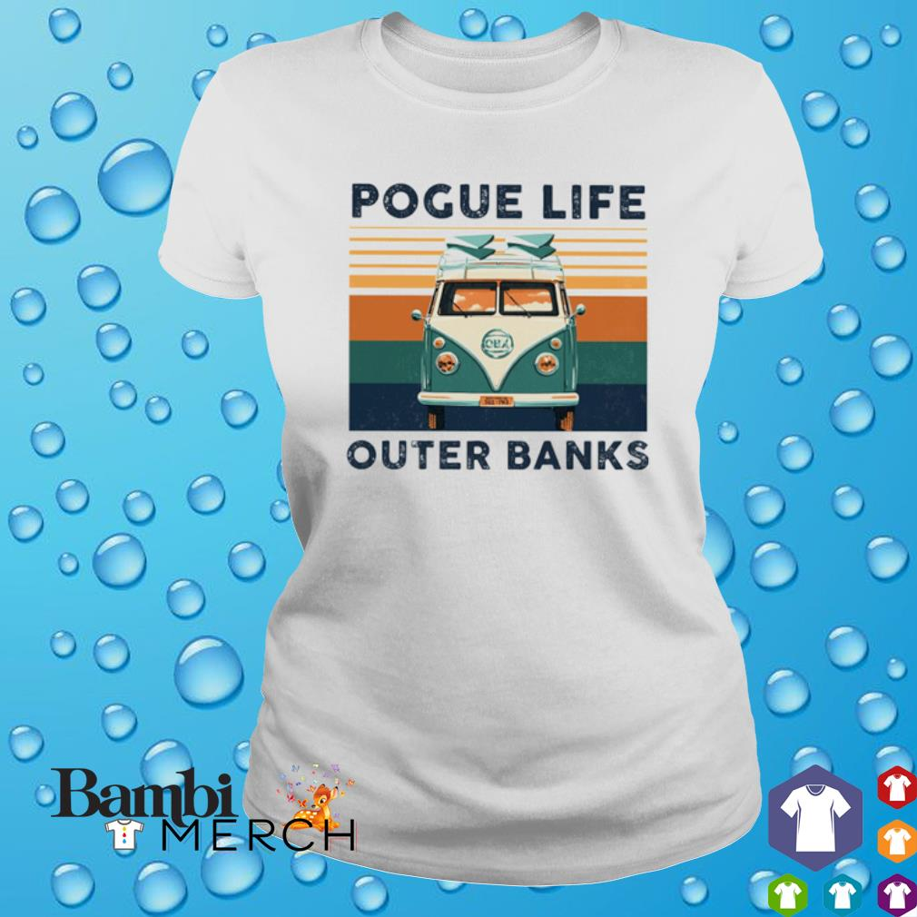Hippie car pogue life outer banks vintage s ladies tee