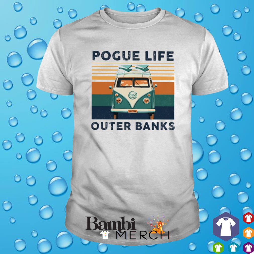 Hippie car pogue life outer banks vintage shirt