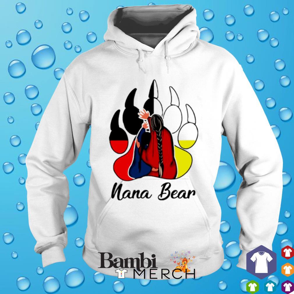 Native American bear paw Nana Bear s hoodie
