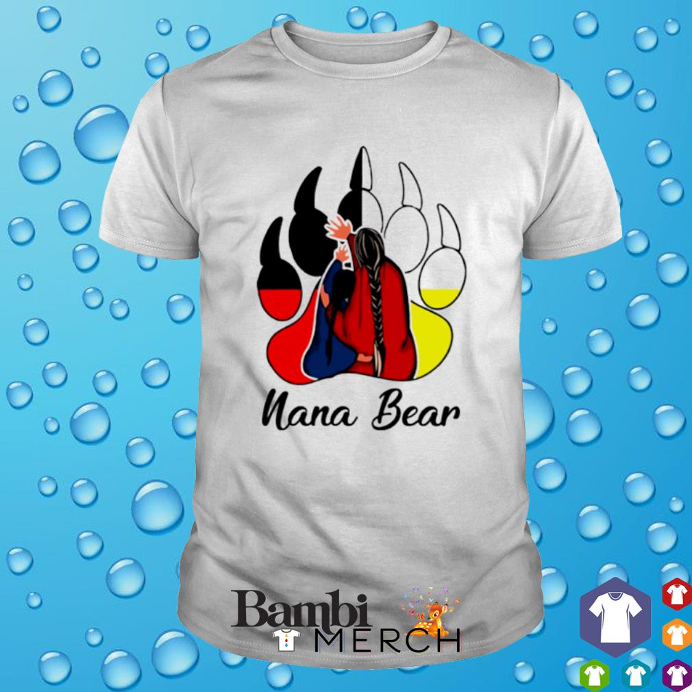 Native American bear paw Nana Bear shirt