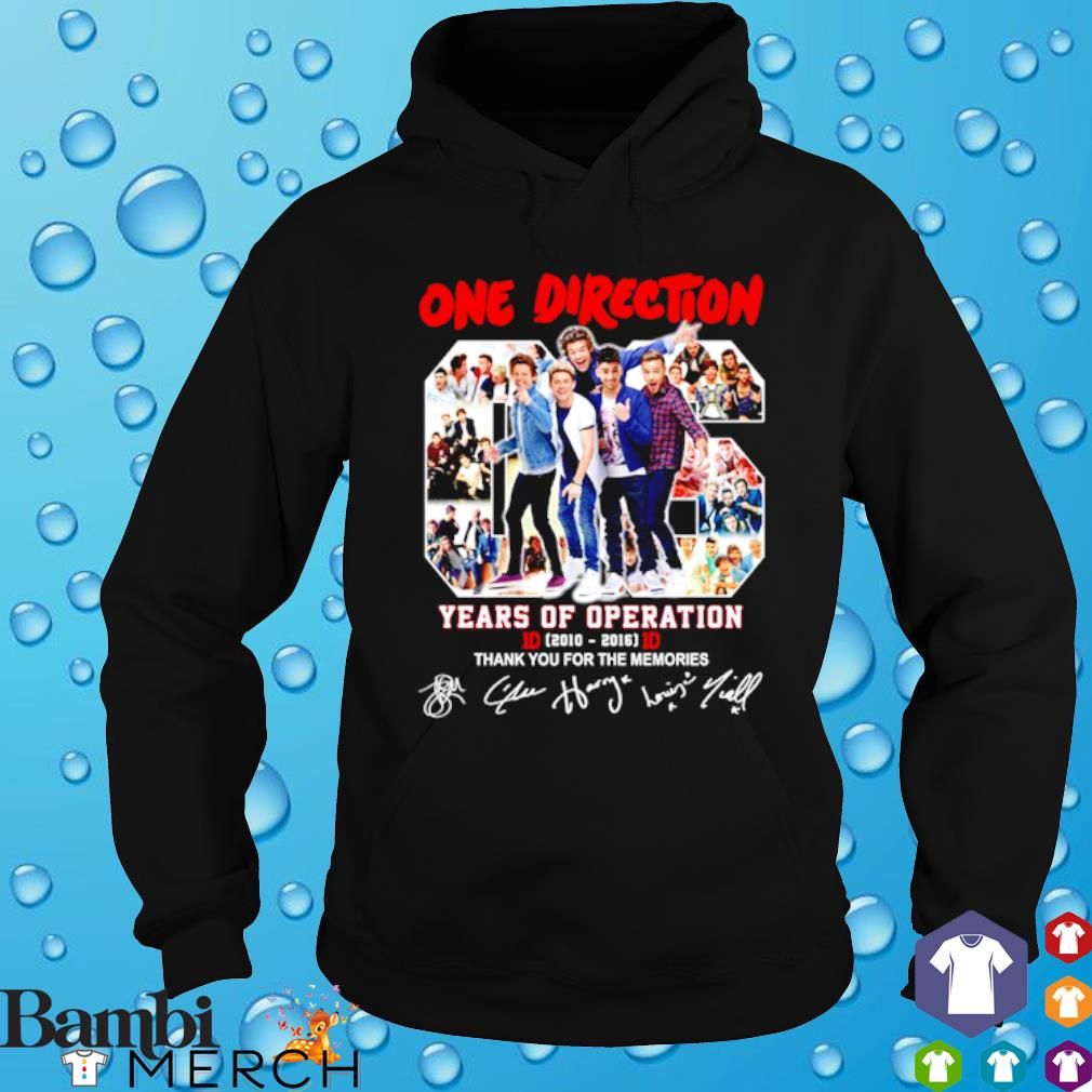 One Direction 06 years of Operation thank you for the memories s hoodie
