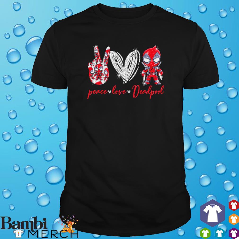 Peace love Deadpool shirt