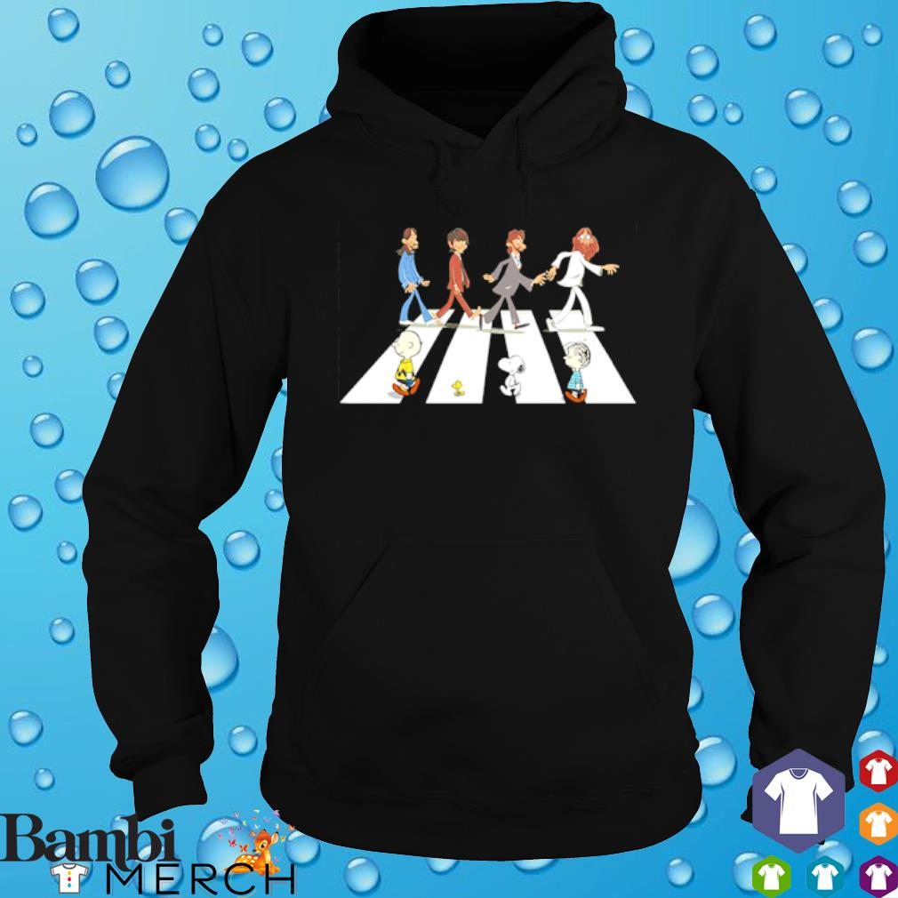 Peanuts and The Beatles abbey road s hoodie