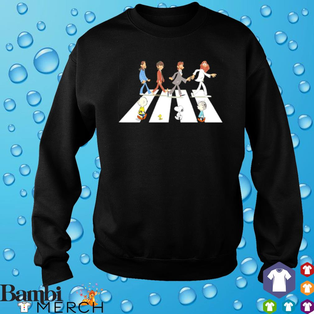 Peanuts and The Beatles abbey road s sweater