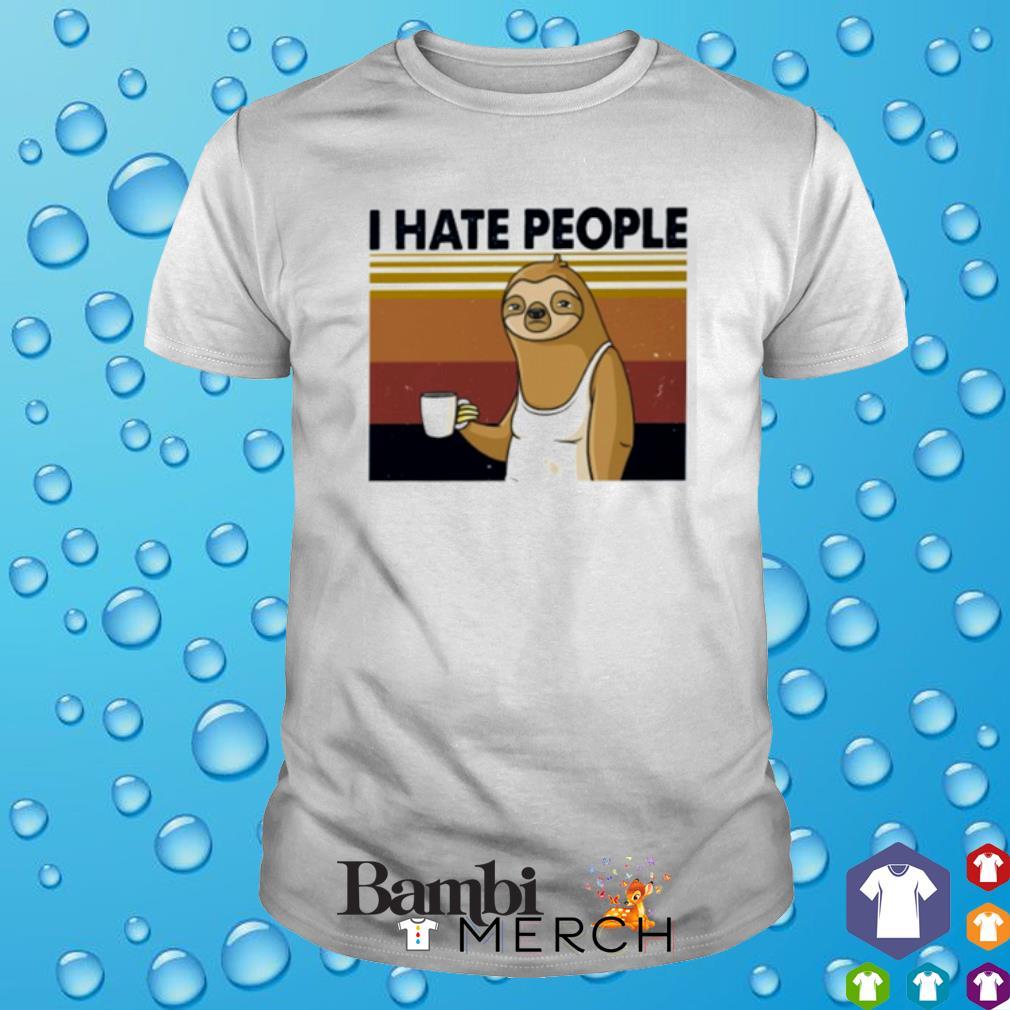 Sloth I hate people vintage shirt