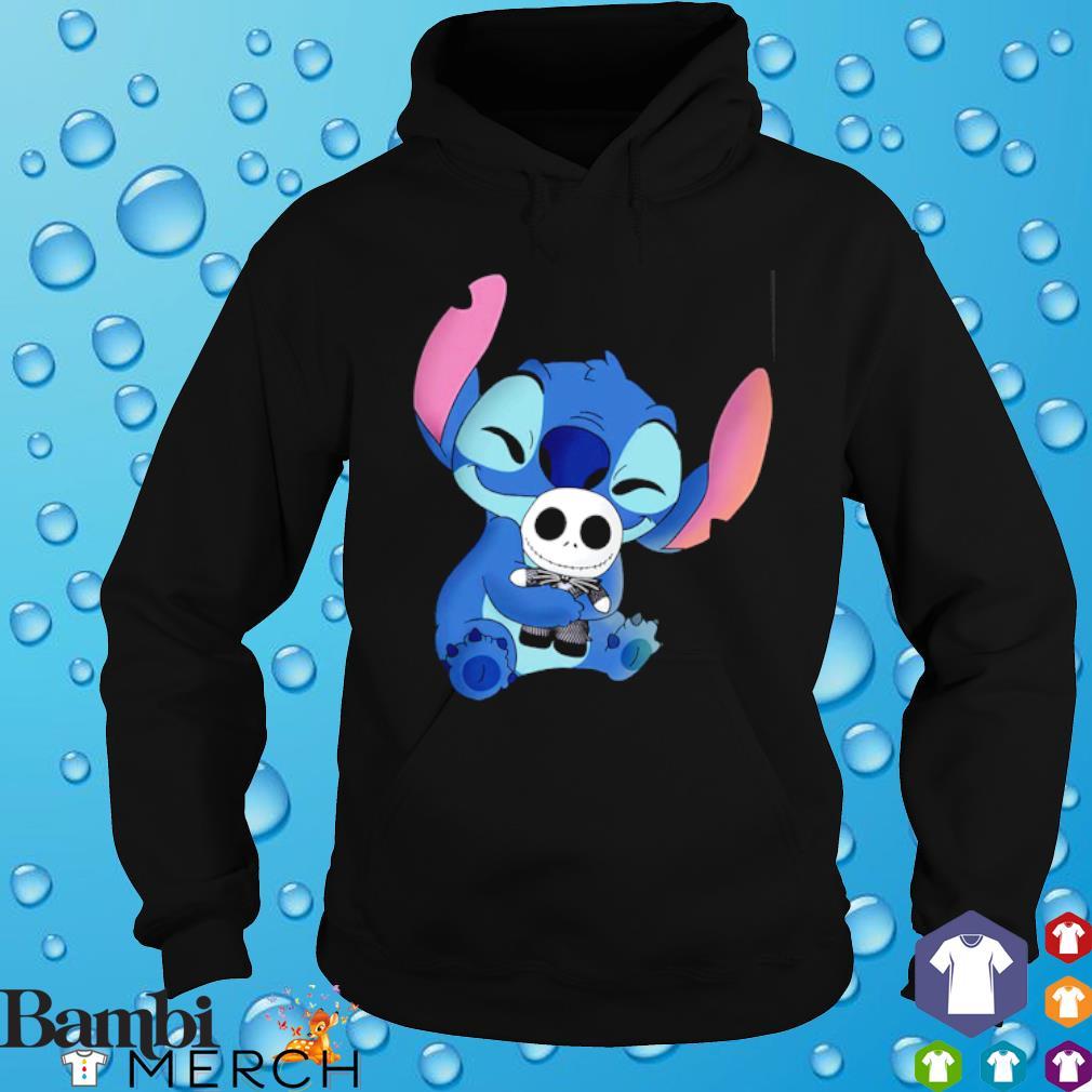 Stitch hug Jack Skellington s hoodie