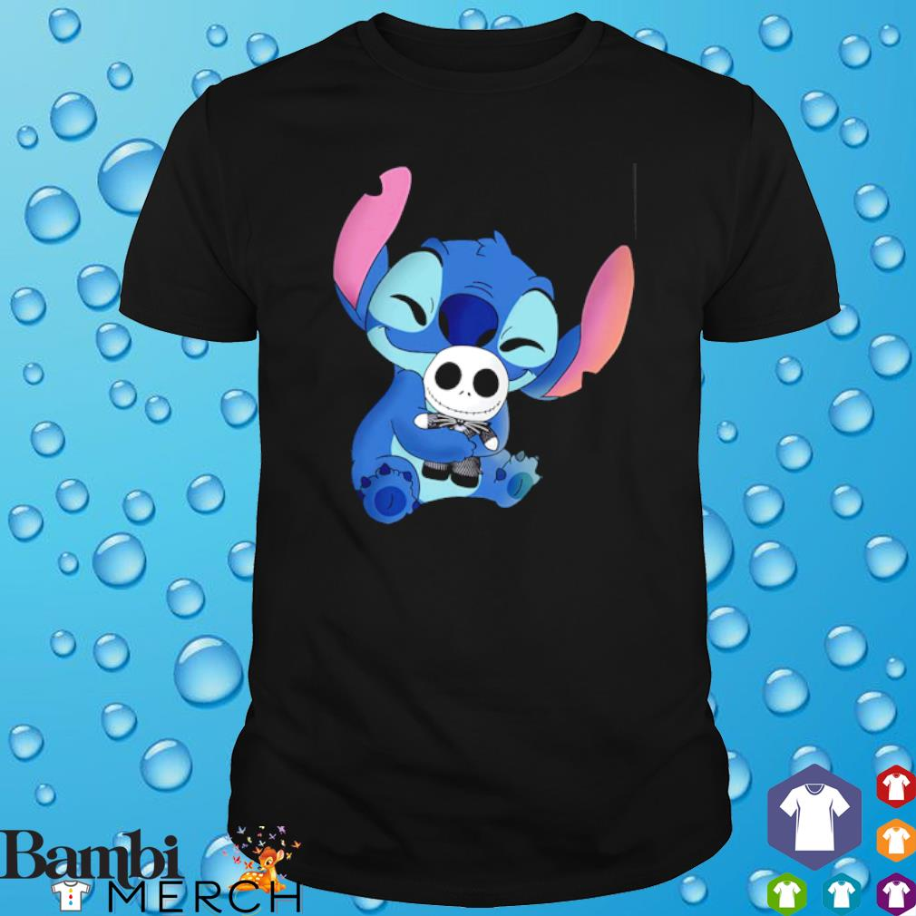 Stitch hug Jack Skellington shirt