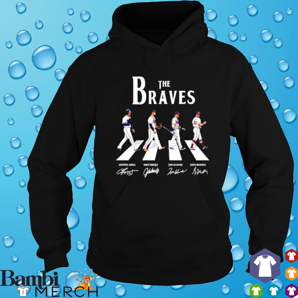 The Braves Walking Road signature Shirt hoodie