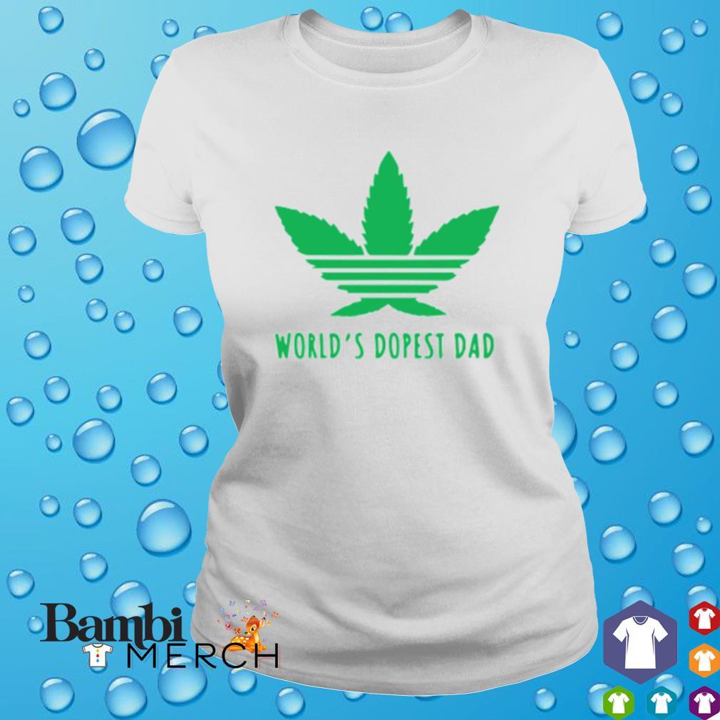 Weed world's dopest dad s ladies tee