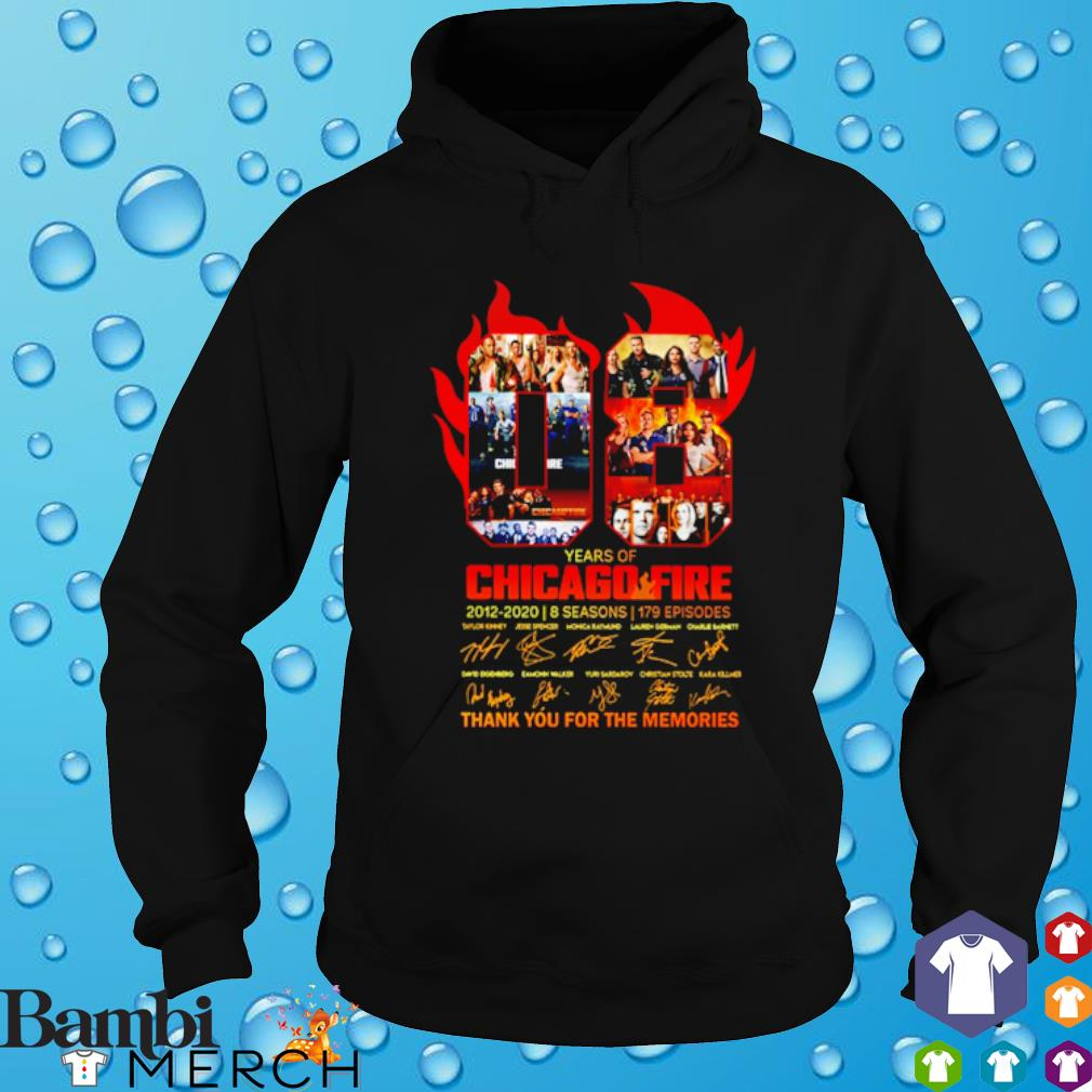08 years of Chicago Fire 2012 2020 thank you for the memories s hoodie