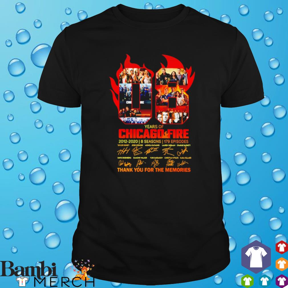 08 years of Chicago Fire 2012 2020 thank you for the memories shirt