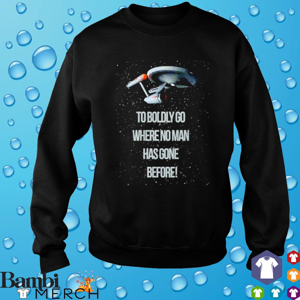 Star Trek to boldly go where no man has gone before s sweater