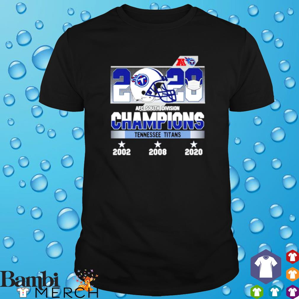 2020 AFC south division champions Tennessee Titans shirt