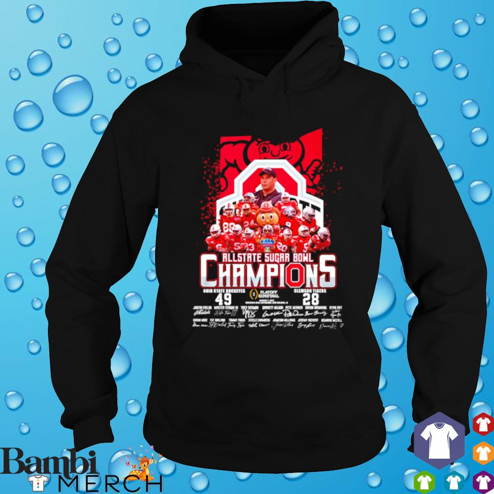 All state sugar bowl champions Ohio State Buckeyes vs Clemson Tigers s hoodie