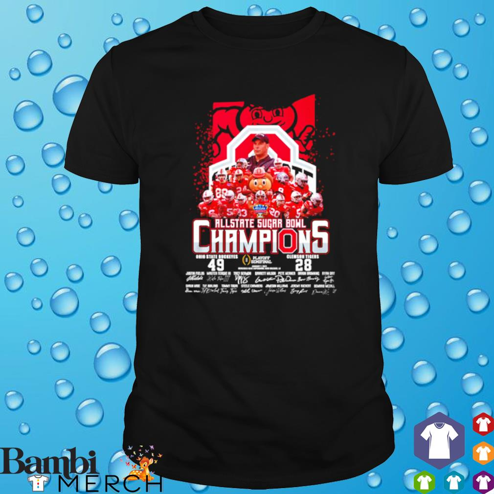 All state sugar bowl champions Ohio State Buckeyes vs Clemson Tigers shirt