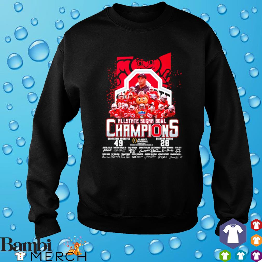 All state sugar bowl champions Ohio State Buckeyes vs Clemson Tigers s sweater