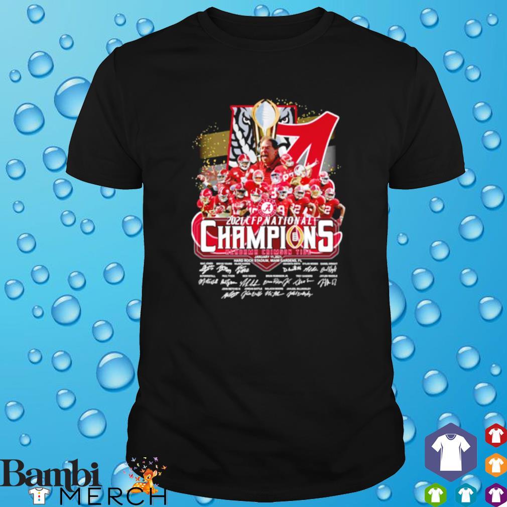 CFP national champions 18 time Alabama 2021 players signature shirt