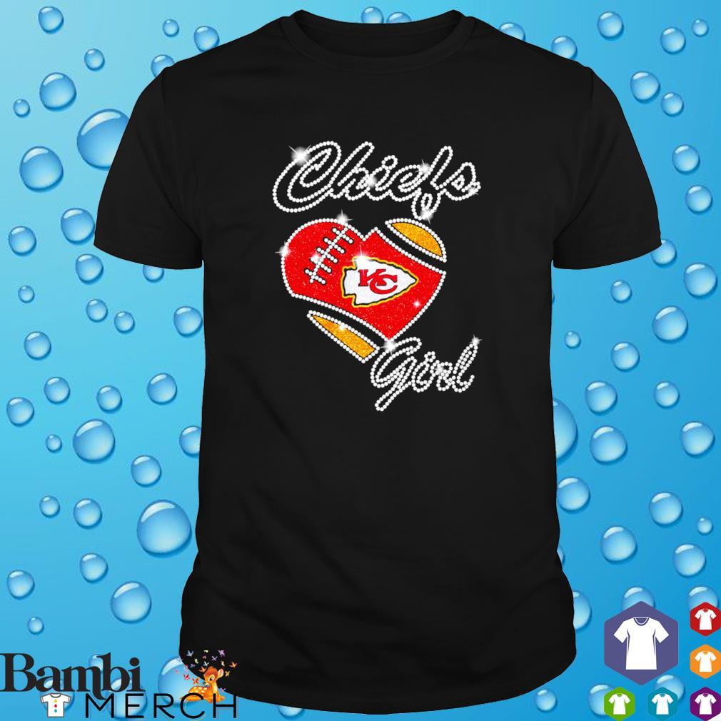 Chiefs girl heart shirt