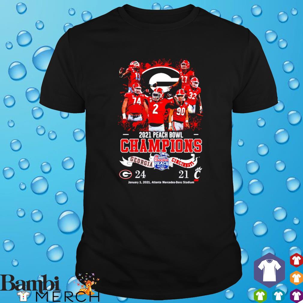 Georgia vs Cincinnati 2021 peach bowl champions Georgia shirt