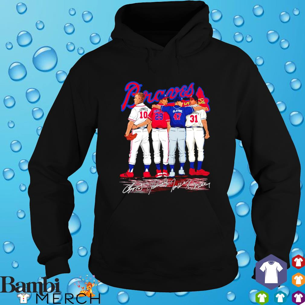 Atlanta Braves best players Jones Smoltz Glavine Maddux s hoodie