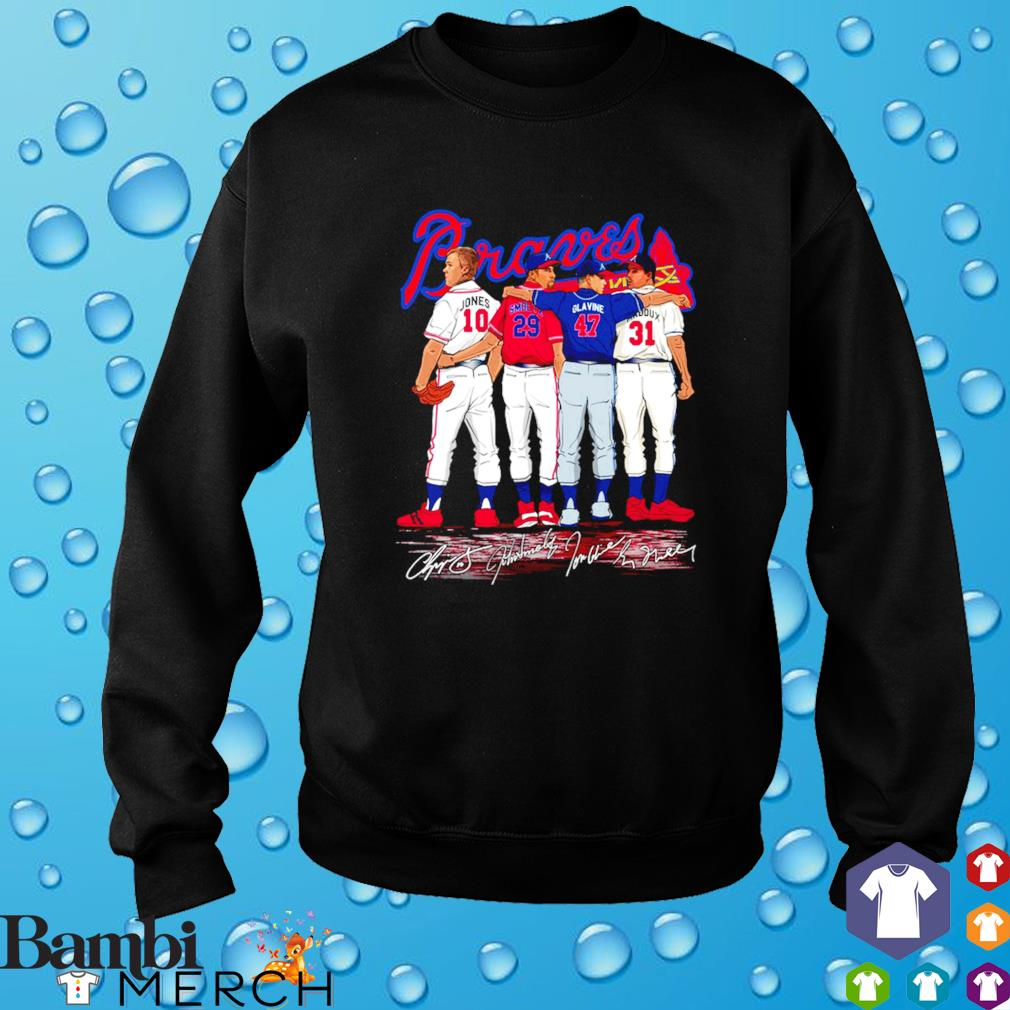 Atlanta Braves best players Jones Smoltz Glavine Maddux s sweater