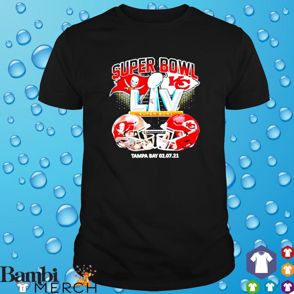 Bucs vs. Chiefs Super Bowl 2021 Tampa Bay 02.07.2021 shirt